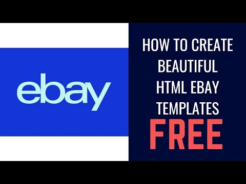 HOW TO CREATE BEAUTIFUL HTML EBAY TEMPLATES LISTING BUILDERS FOR FREE In 5 Minutes