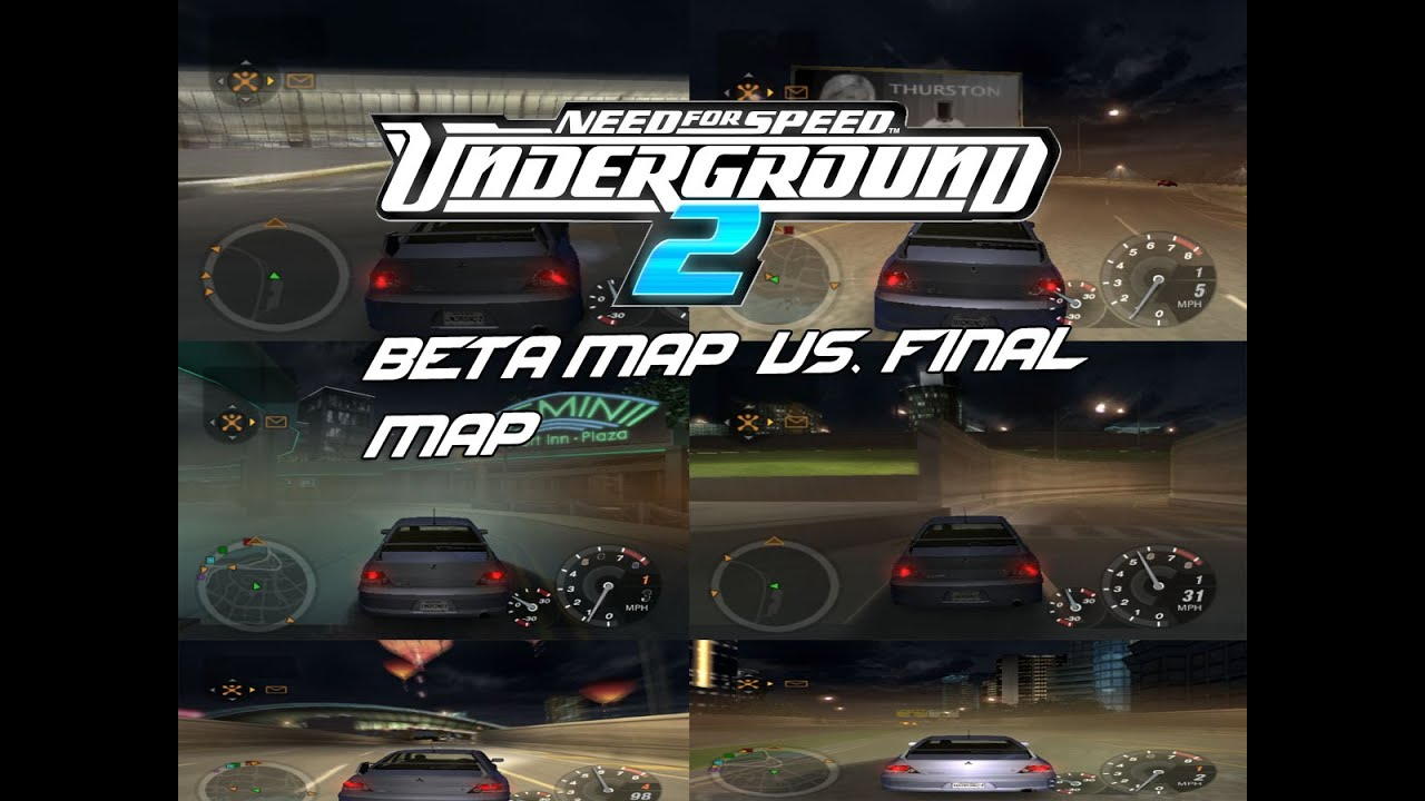 Need For Speed Underground 2: Beta Map Compairson