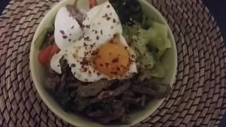 Рецепт бибимбап bibimbap простое корейское блюдо. Вкусный ужин