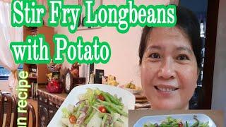 Longbeans With Potato/Vegan/Vegetartian Food//Malyn Jaromay