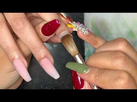 Acrylic Nails Tutorial | Ombré Nails | Acrylic Coffin Nails
