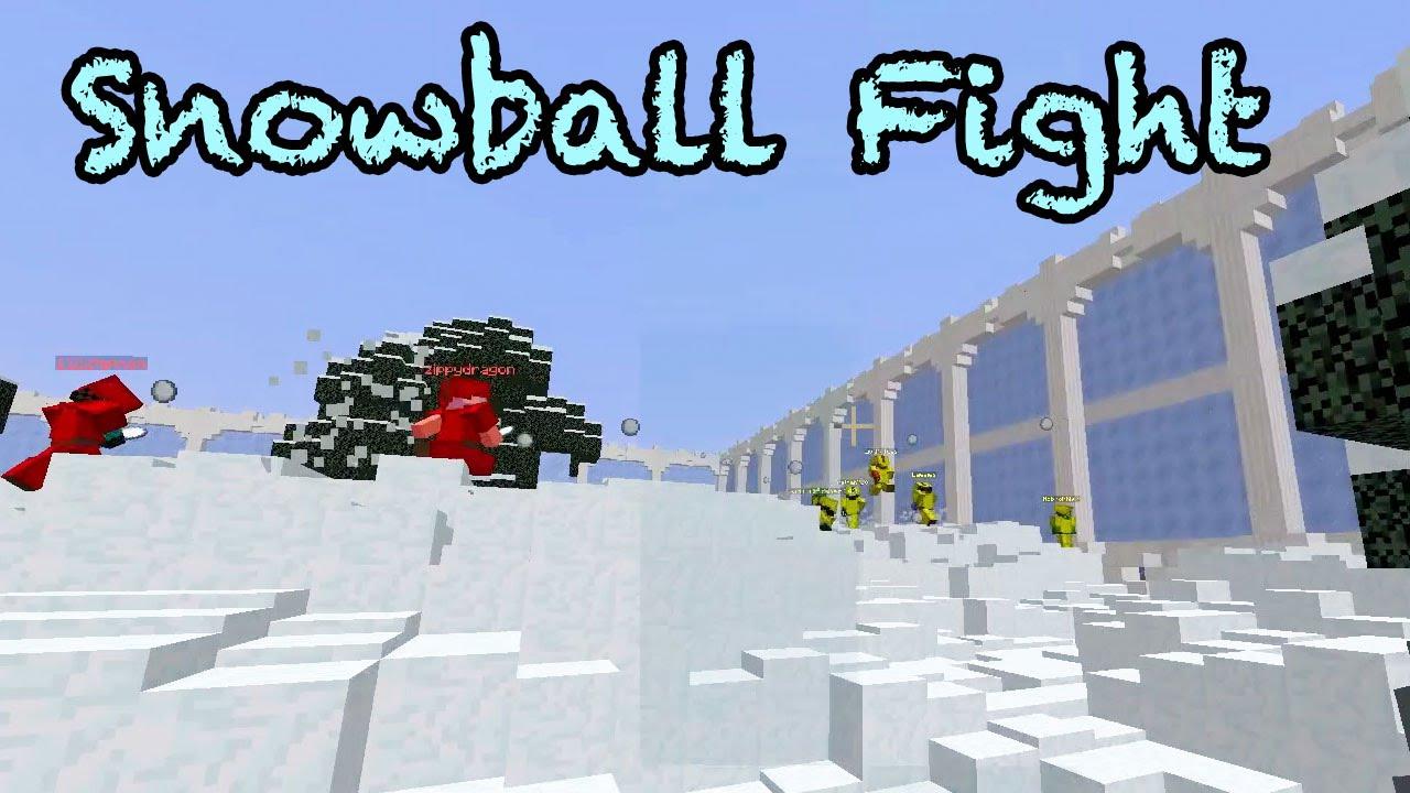 Minecraft / Snowball Fight / Minigame / GamerChad Plays ...