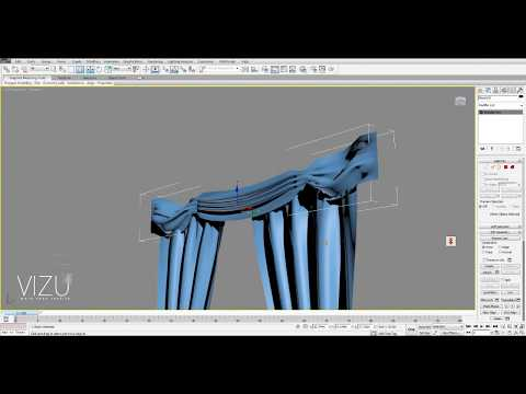 Vizu-How to model a curtain in 3ds Max with cloth modifier