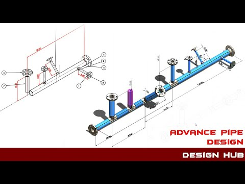 Advance pipe design -using solidwork routing