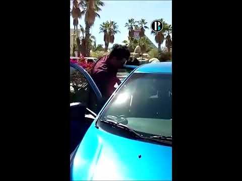 Taxista de los cabos embiste a conductor de Uber provocando un accidente