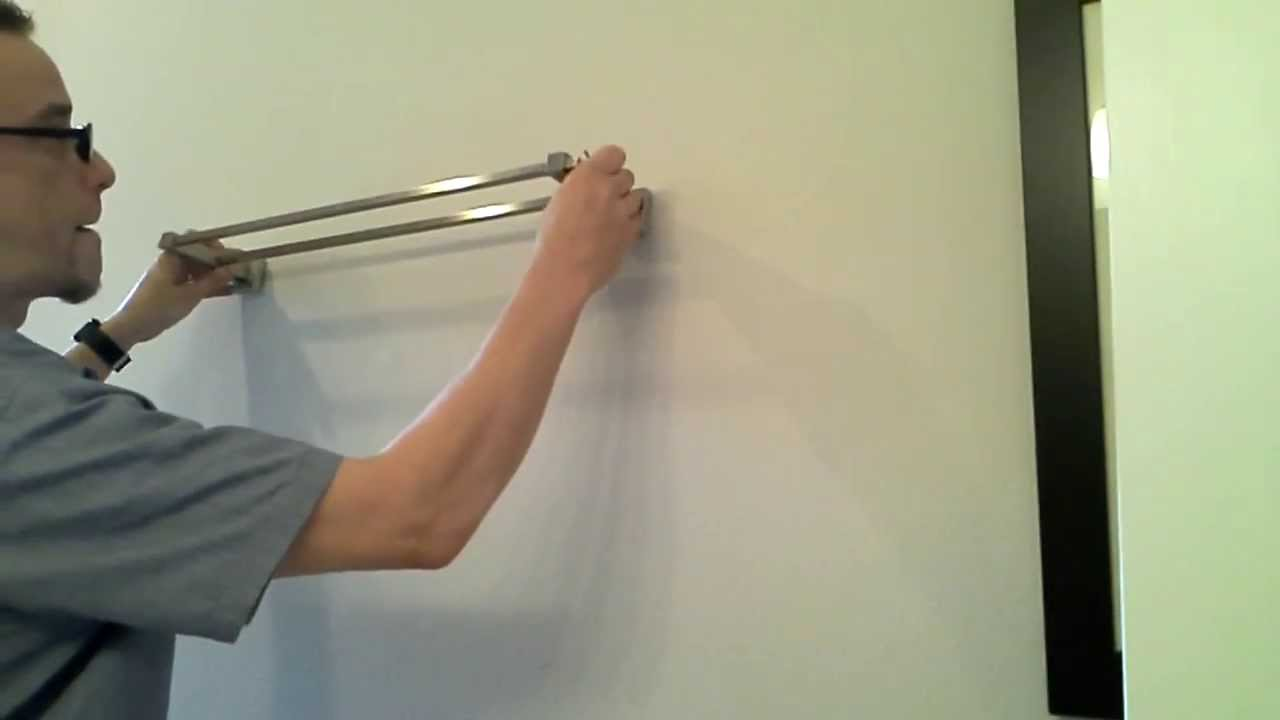 Mount A Bathroom Towel Bar Into Drywall Easy Diy Project
