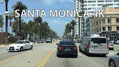 Driving Downtown - Santa Monica 4K - USA