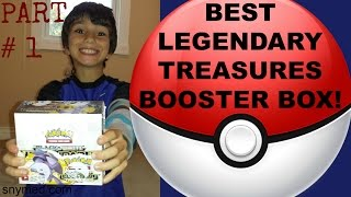 BEST Pokemon Legendary Treasures Booster Box Opening Video - Part 1 of 2! AWESOME PULLS! Jenna Em