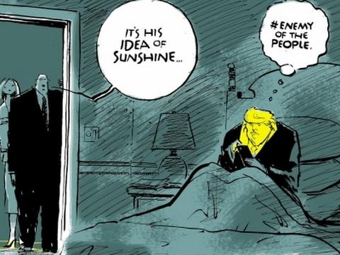 Trump's Actions Inspire Editorial Cartoonists