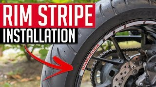 How to install rim stripe on a motorcycle // Quick & Easy (4K)