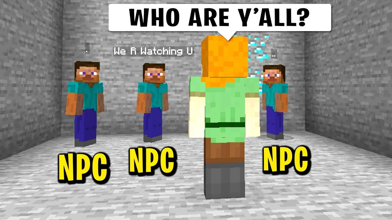 Download Trolling my new minecraft friend with NPC's...