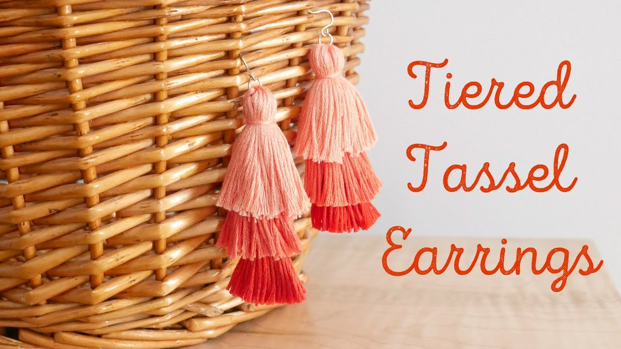 How To Make Tiered Tassel Earrings