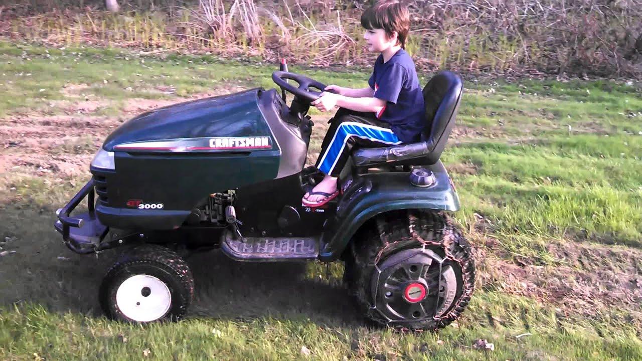 Craftsman Lt1000 Riding Mower >> Craftsman GT3000 - YouTube