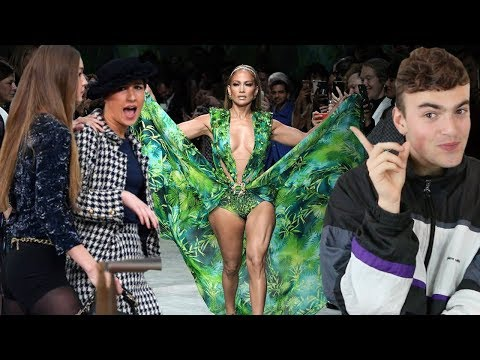 BEST AND WORST SPRING 2020 FASHION SHOWS (gigi confronts chanel runway crasher marie s'infiltre)