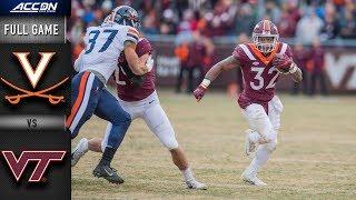 Virginia vs. Virginia Tech Full Game | 2018 ACC Football