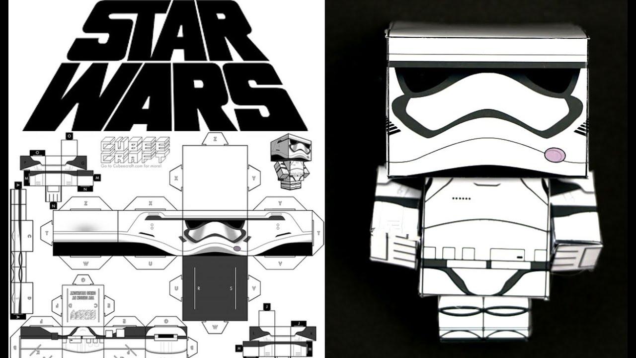 Papercraft Como hacer cubecraft o papercraft: stormtrooper de Star Wars