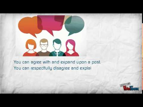 Discussion Forums: Tips for Success