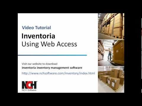 Inventoria Inventory Software   Using The Web Interface