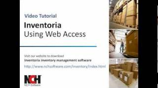 Inventoria Inventory Software | Using the Web Interface