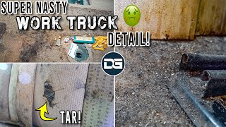 Super Cleaning a DISASTER Work Truck!! | Super Nasty Car Detailing and INSANE Transformation!