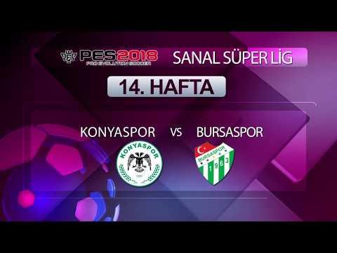 Konyaspor - Bursaspor | PES 2018 Sanal Süper Lig 14. Hafta