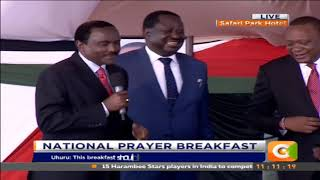 Forgive me: Uhuru, Ruto, Raila and Kalonzo plead with each other #NationalPrayerDay