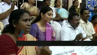 Creative protests in Trivandrum corporation against Mayor Chandrika