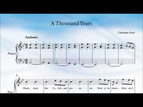 Thousand Years Piano