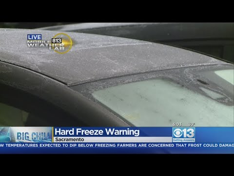 Hard Freeze Warning Remains In Effect In Sacramento