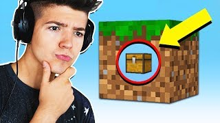 SURVIVNG MINECRAFT WITH 1 CUBE...