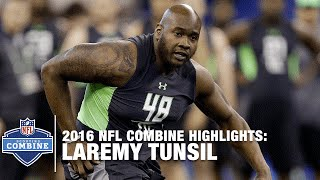 Laremy Tunsil (Ole Miss, OT) | 2016 NFL Combine Highlights