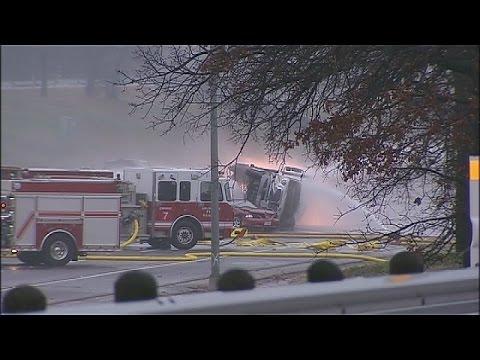 Fiery I-20 tanker crash in Arlington