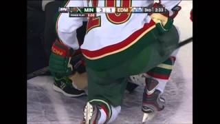 2/21/13: Oilers' Taylor Hall called for kneeing Wild's Cal Clutterbuck