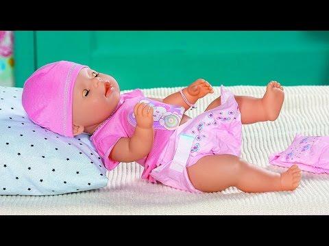 Кукла Лиза от Бэби Борн - Играем в дочки и матери. Видео для девочек с куклой Baby Born