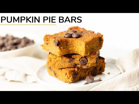 PUMPKIN PIE BARS | healthy recipe