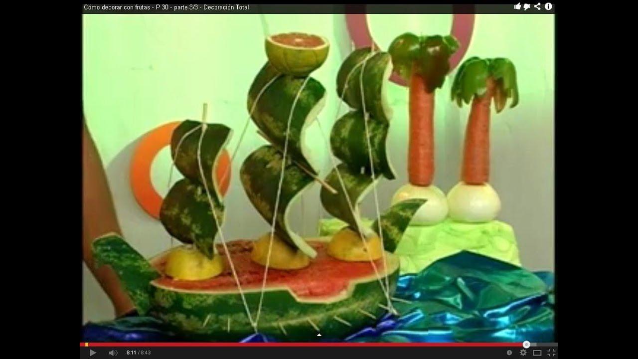 Barco y palmeras con frutas p 30 parte 3 3 - Decoracion de frutas ...
