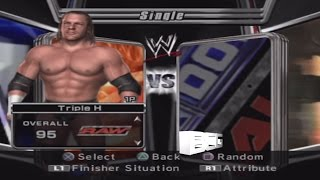 WWE Smackdown vs Raw 2006 Character Select Screen Including All Unlockables Roster
