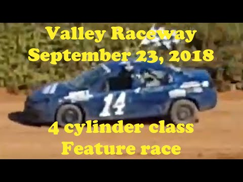 Valley Raceway 1/4 mile dirt track, 4 cylinder class, 12 lap feature race. Recorded on September 23, 2018 at Valley Raceway, Melvern Square, Nova Scotia, ... - dirt track racing video image