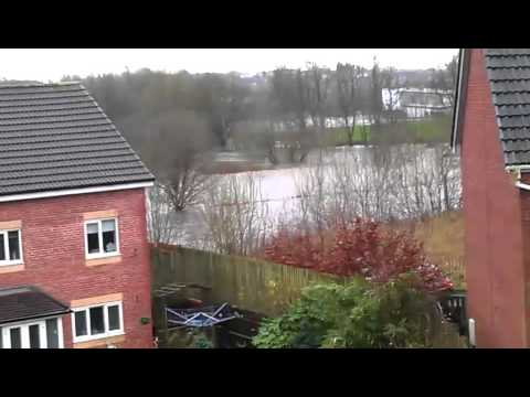 Floods in Bury Greater Manchester England