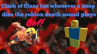 Kampf der Clans, aber wenn eine Truppe stirbt, spielt der Roblox-Todeston