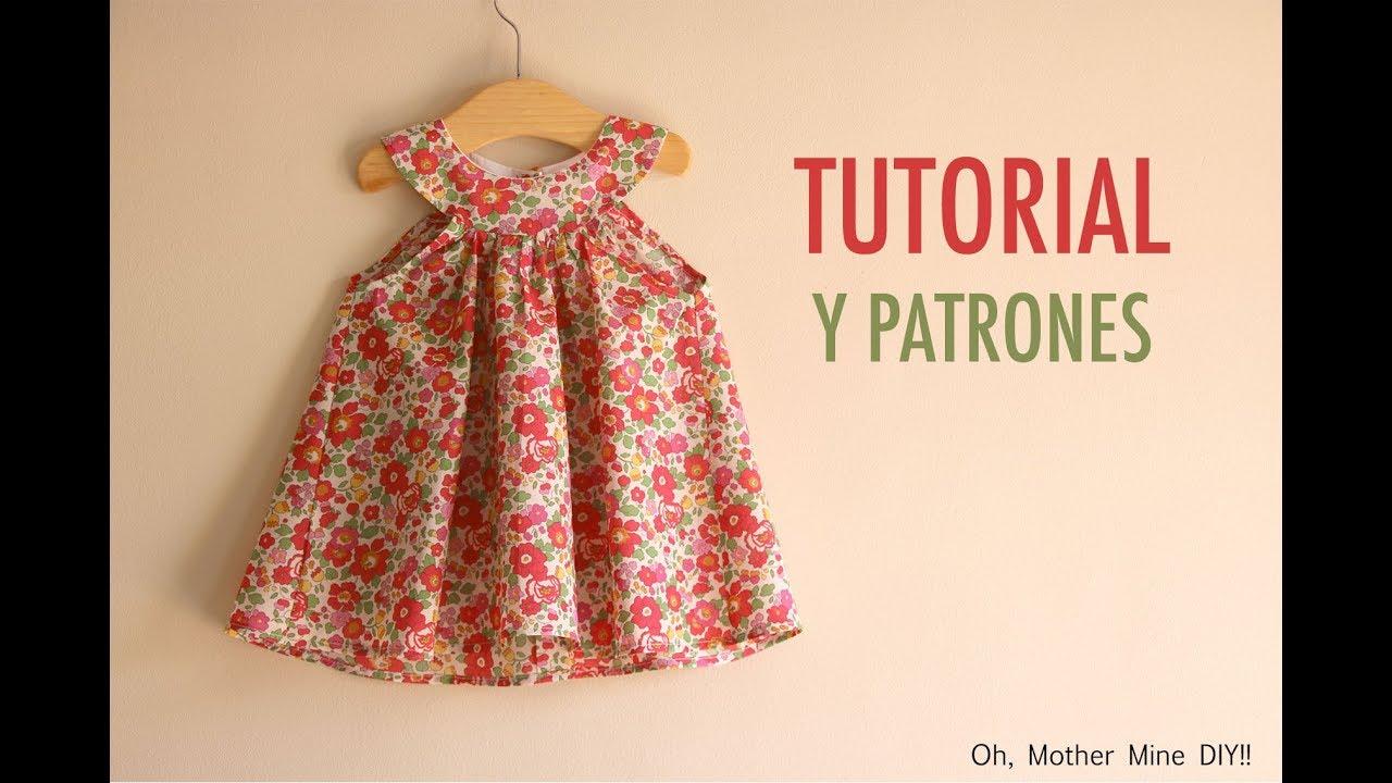 30594557d Costura: Vestido cuello halter para niñas (patrones gratis talla )