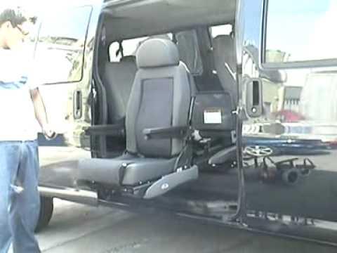 Asiento para discapacitados con silla de ruedas youtube for Sillas para discapacitados
