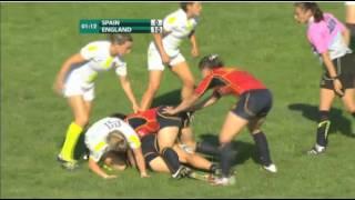 Rugby Seven. España Vs Inglaterra. Final Women 7s European Championship 2012.