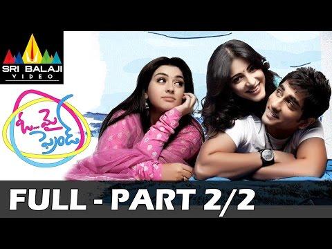 Oh My Friend Telugu Movie Full Part 2/2   Siddharth, Shruti Haasan, Hansika   Sri Balaji Video