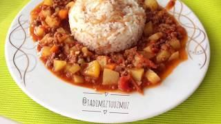 Kıymalı Patates Yemeği - Eat Potatoes - Tadimiz tuzumuz - картошку тамак