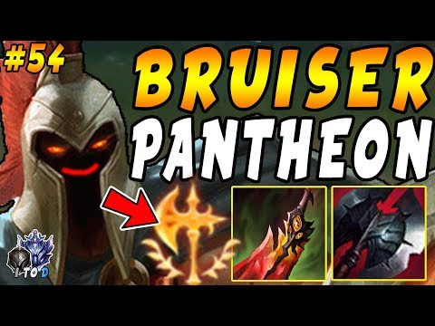 'NEW' CHALLENGER BRUISER Pantheon Top = The ABSOLUTE BEST Build | Iron IV to Diamond Episode #54