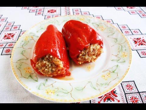 Фаршированный перец рецепт Болгарский перец фаршированный Как приготовить фаршированный перец рецепт