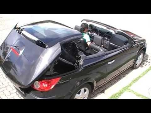 Renault Megane Coupe Cabriolet conversível - Funcionamento da Capota de vidro