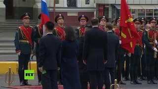 Dan la bienvenida a Kim Jong-Un con el himno de Rusia