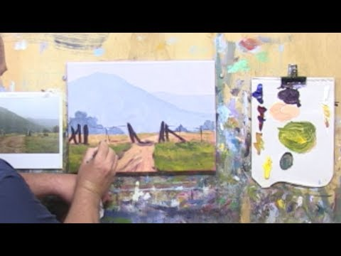 "Learn To Paint TV E18 ""Capertee Gates In Mist"" Landscape Painting in Acrylic Paint For Beginners."